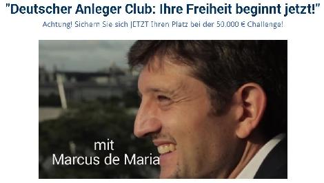 50 000 Euro Challenge des Deutschen Anleger Clubs startet genau jetzt